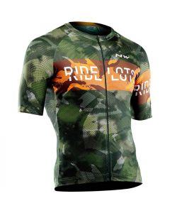 Northwave Blade wielershirt korte mouw-Forest oranje-3XL