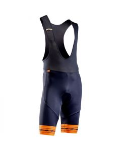 Northwave Wingman Gel koersbroek met bretels-Zwart-Oranje-XL
