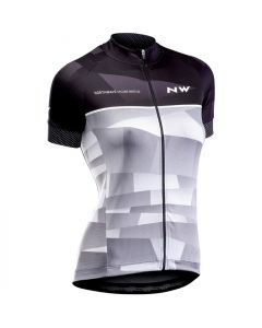 Northwave Origin dames wielershirt korte mouw-Zwart-Grijs-XL