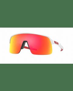 Oakley Sutro Lite fietsbril-Matt white-Prizm ruby
