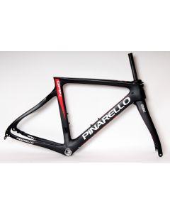 Pinarello Gan disc frameset-Mat zwart-Rood-44