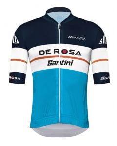 Santini Team De Rosa Replica wielershirt korte mouw