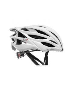 Zero RH+ ZW fietshelm-Mat wit-Mat zilver-L/XL
