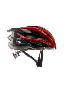 Zero RH+ ZW fietshelm-Rood-Zwart-Donker zilver metaal-XS/M