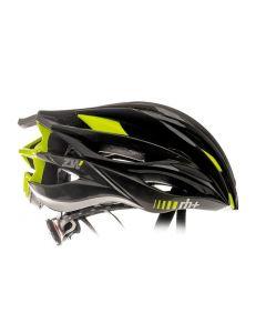 Zero RH+ ZW fietshelm-Zwart-Fluorgeel-Antraciet metaal-XS/M