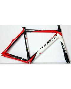 Wilier Velodromo carbon frameset-Zwart-Rood-XS