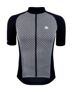 Megmeister Premium Woven Houndstooth wielershirt korte mouw